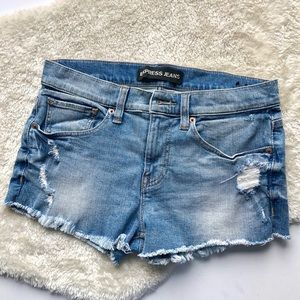 Express | Distressed Jean Shorts